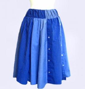 finished refashioned skirt