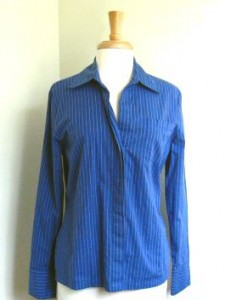 blue striped shirt BEFORE