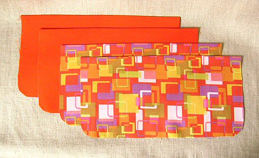 fabric cut for envelope clutch