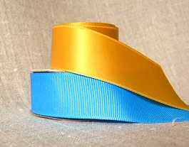 satin and grosgrain ribbons