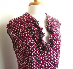 finished top with new ruffled neckline