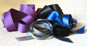 satin, grosgrain, and velvet ribbon