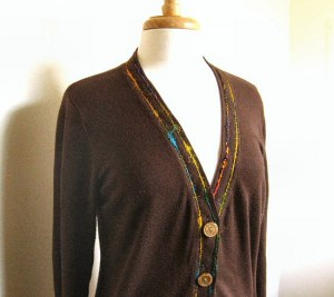 brown cardigan: tragedy averted!