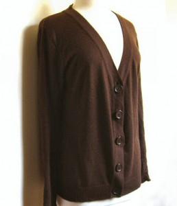 tragic brown cardigan: before
