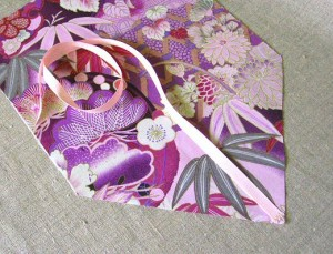 attach ribbon to right side of flap
