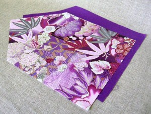 cut fabric for fabric envelopes