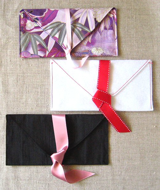 DIY fabric envelopes three ways