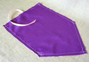 sew self to lining, leaving an opening at the bottom