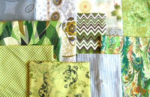 green and gray fabrics, for Holland Cox spring 2012.