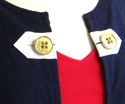 gold button detail