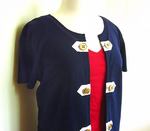 nautical inspired t-shirt refashion