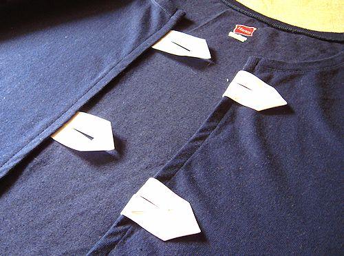 fold under and stitch