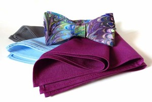 free style bow tie with pocket squares