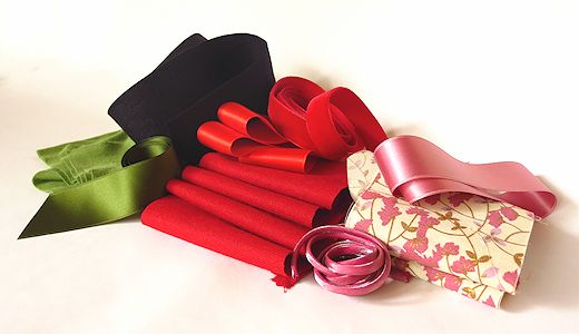 raw materials for making fabric flowers