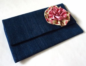 cotton and satin fabric flower