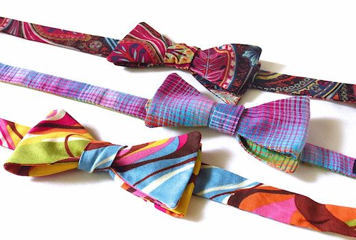group of handmade bow ties