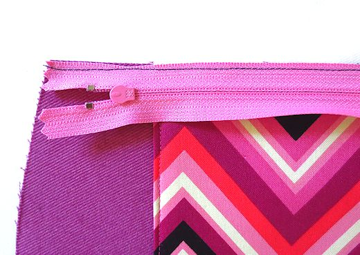 stitch down zipper with a tiny seam allowance