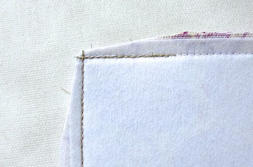 trim seam allowances at the corner to form a point