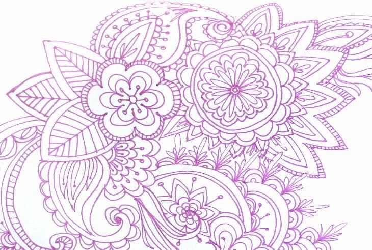 mandala-style floral doodles