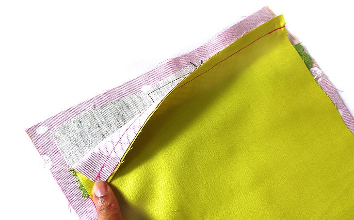 attach one end of pocket bag to welt