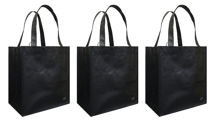 plain black tote bags