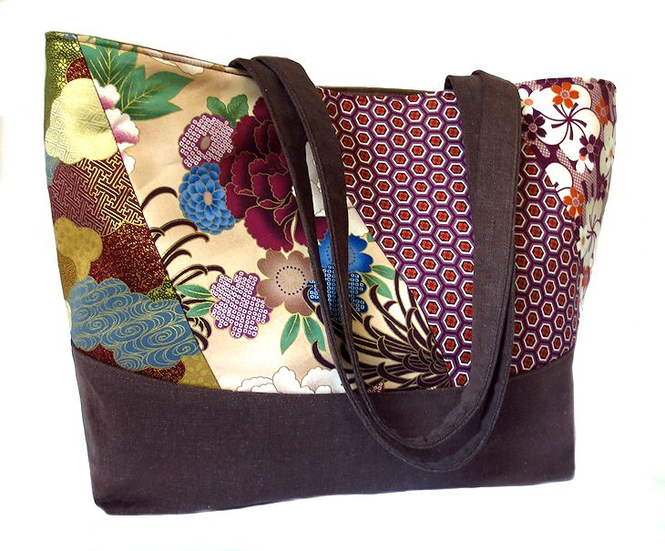 tote with patchwork detail