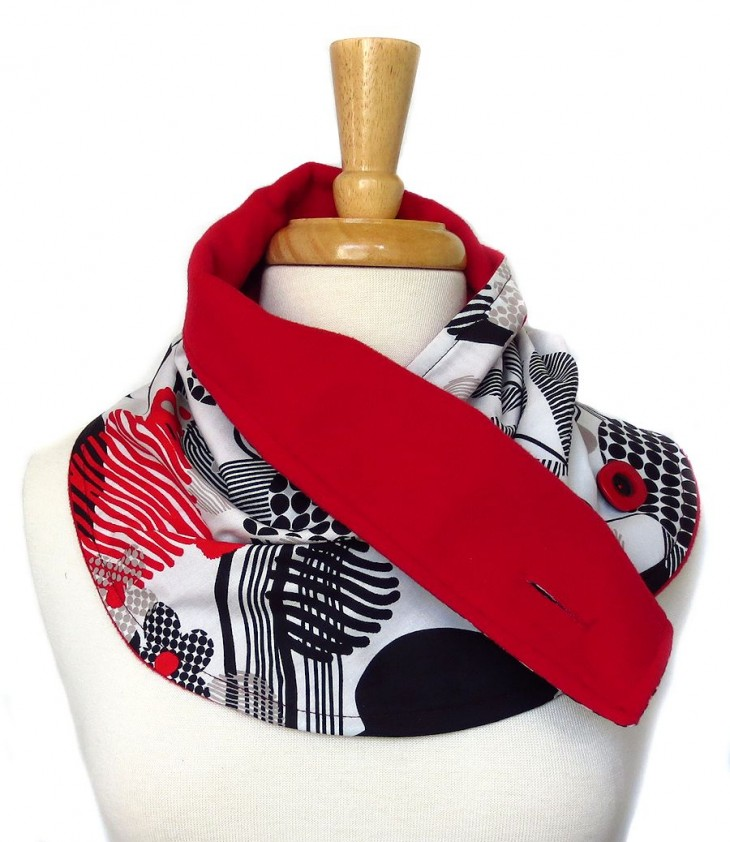 coveted scarf with lining showing
