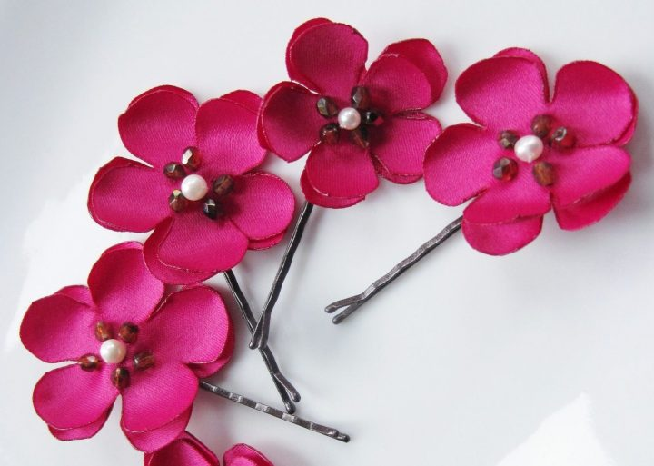 flower bobby pins from Maria Louise High