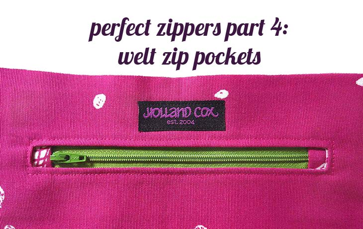 perfect zippers tutorial: the welt zipper pocket