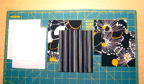 fabric and interfacing for the 19th st. wallet