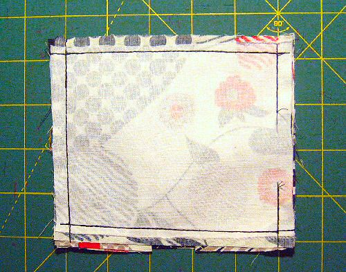 "sew with right sides together, with a 3/8"" seam allowance"