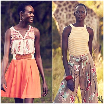 Ajak Deng for Anthropologie