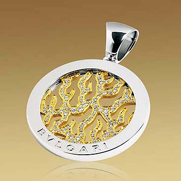 tondo fire pendant from Bulgari