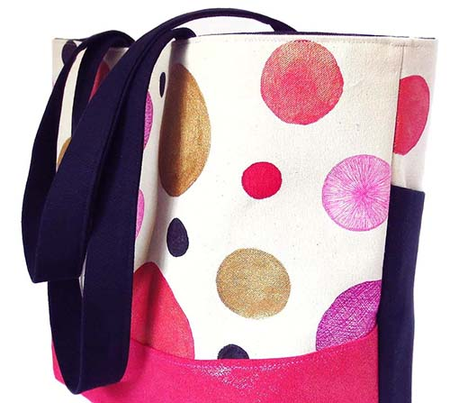 close up of Felicity tote from Holland Cox