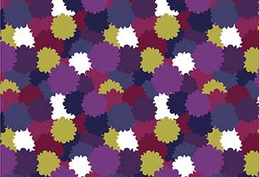 multi colored floral print