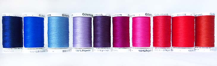 Gutermann thread all in a row!