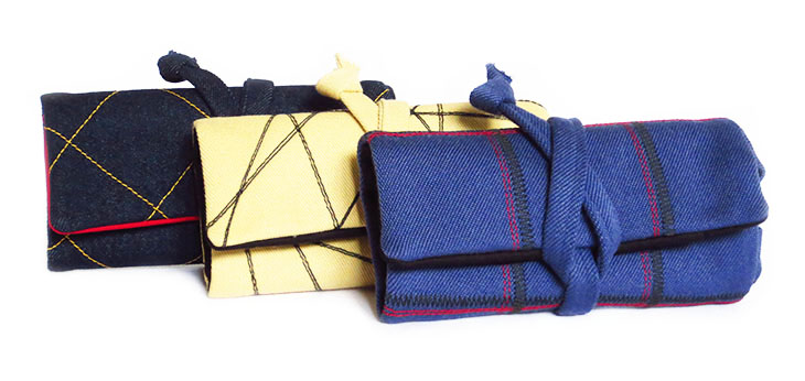 fabric watch rolls from Holland Cox