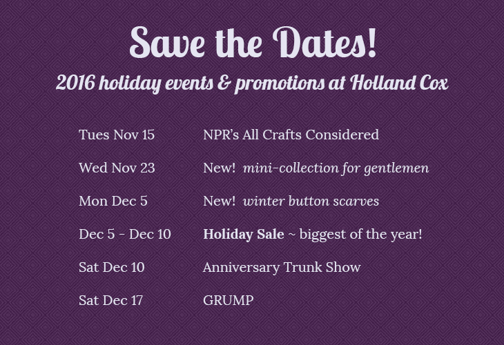 2016 holiday happenings at Holland Cox