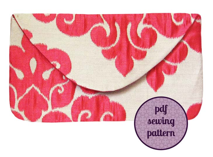 learn to sew the evening envelope clutch sewing pattern from Holland Cox