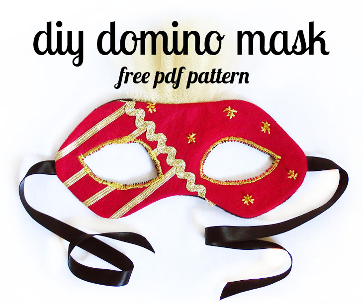 free pdf pattern and tutorial for a domino-style mask