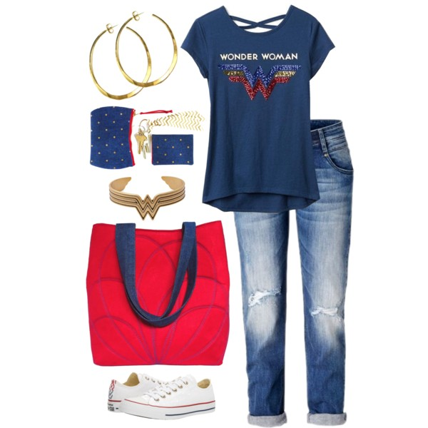 a statement bag with your favorite tee shirt