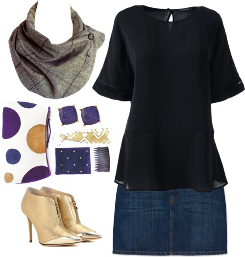 the anjelica button scarf with your date night outfit