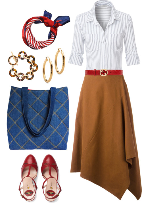 how to wear denim to the office: with the anjelica 517 tote