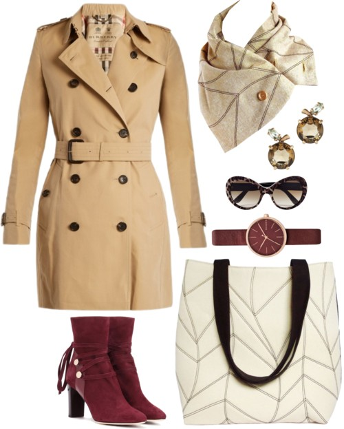 the cassandra 517 tote and the cassandra scarf with your classic trench coat
