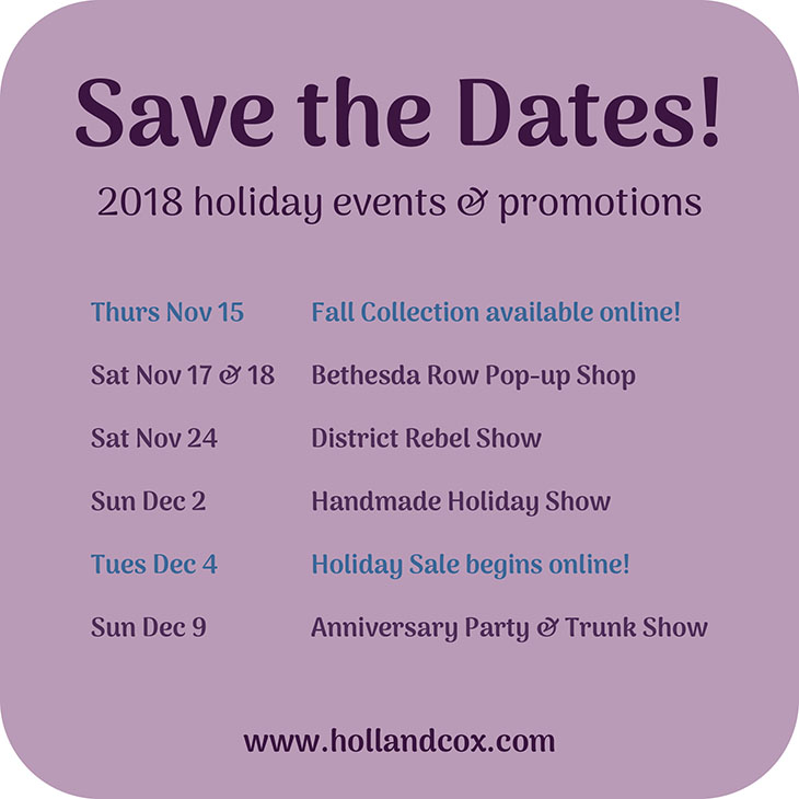 2018 holiday events and promos at Holland Cox!